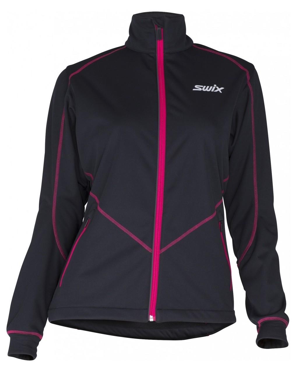 Kurtka na nartyu biegowe damska Lillehammer 12196 Black-Bright Fuchsia F