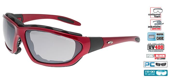 Okulary na narty biegowe GOGGLE T436-4 bordo