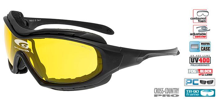 Okulary na narty biegowe GOGGLE T652-2 czarne mat. Prod. USA