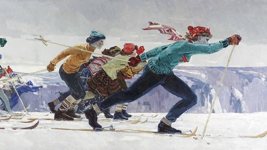 Талалаев Антолий Николаевич (Россия, 1929-1989) «Лыжники» 1961