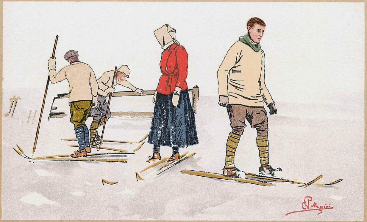 Carlo Pellegrini. pocztówka 1910