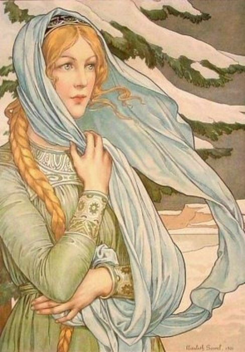 Elisabeth Sonrel French 1874-1953. Winter