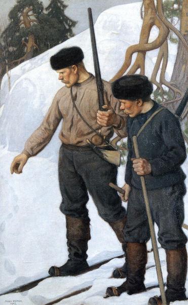 Ilveksen Jäljillä 1903 138x89 mm K H Renlundin Taidemuseo, Kokkola Halonen, Pekka 1865-1933