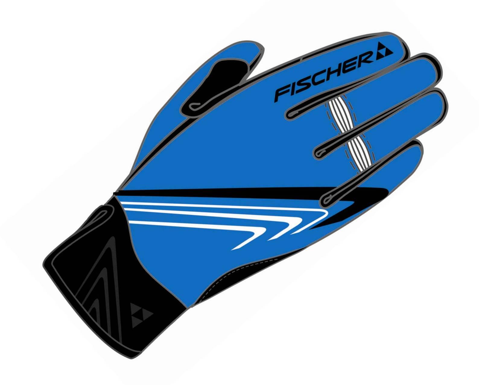 Rękawice na narty biegowe Fischer XC Glove New Tour, średnio ciepłe, niebieskie, kod G91314