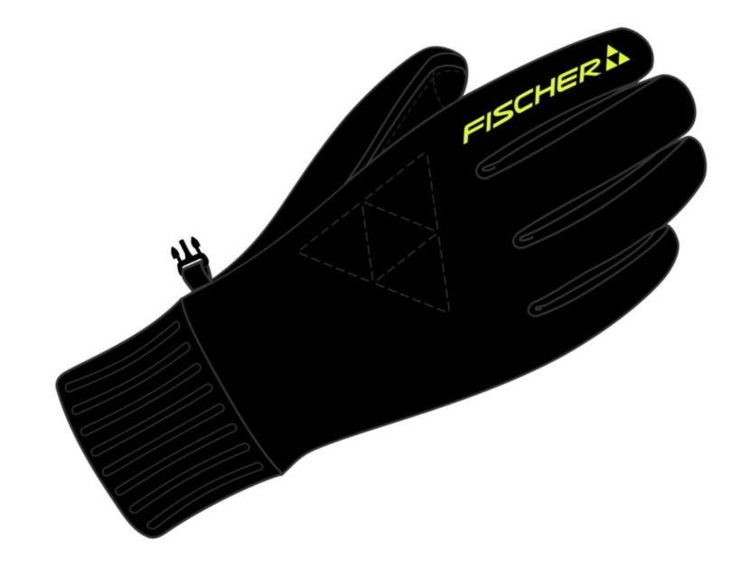 Rękawiczki na narty biegowe Fischer Allaround, polar, średnio ciepłe, kod G92014 / 327626
