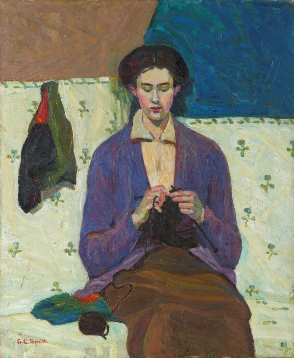 The sock knitter by Grace Cossington Smith